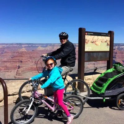 Pushing Kids During Travel - Grand Canyon 2