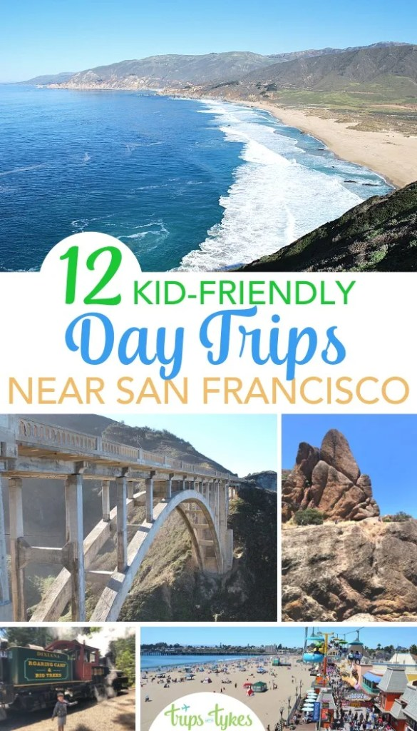 Visiting San Francisco with kids? Get out of the city with one of these top 12 kid-friendly day trips, from Muir Woods to Monterey and beyond. #sanfrancisco #sftravel #daytrip #norcal