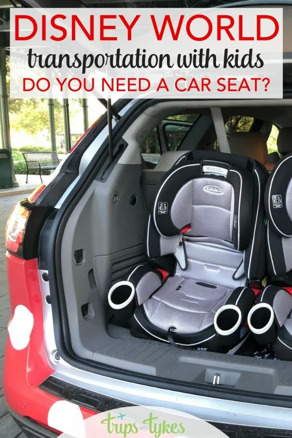 Taking kids to Disney World? Wonder whether you need a car seat for Disney and Orlando airport transportation? All the answers for every transit scenario. #DisneyWorld #DisneyKids #CarSeat #Disney