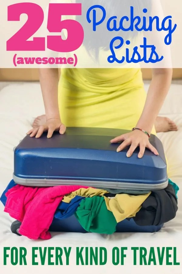 25 Packing Lists for Every Kind of Family Travel