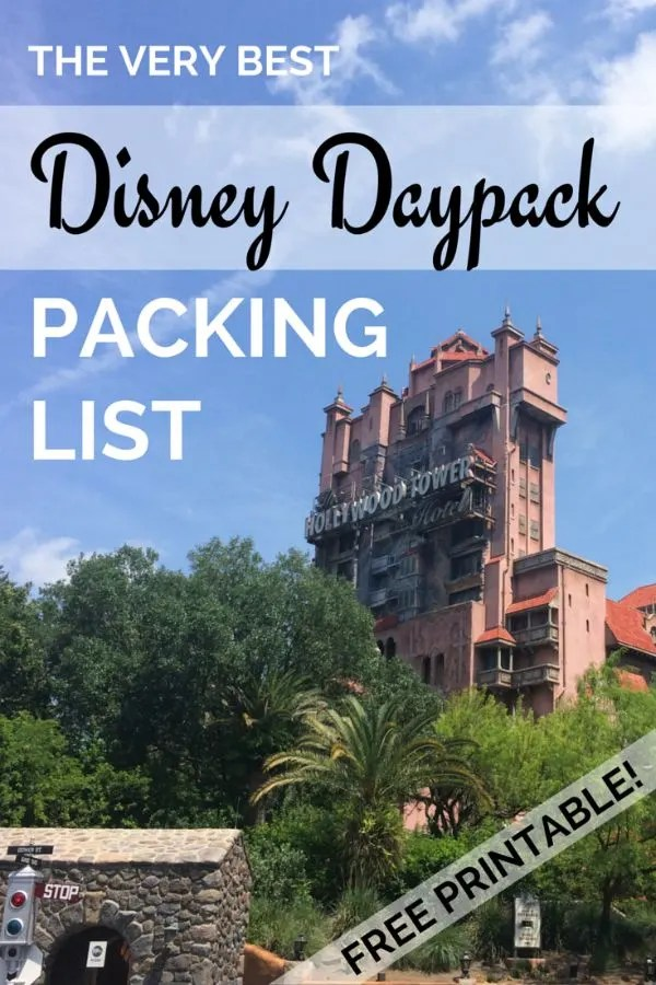 Ultimate Disney Daypack Packing List