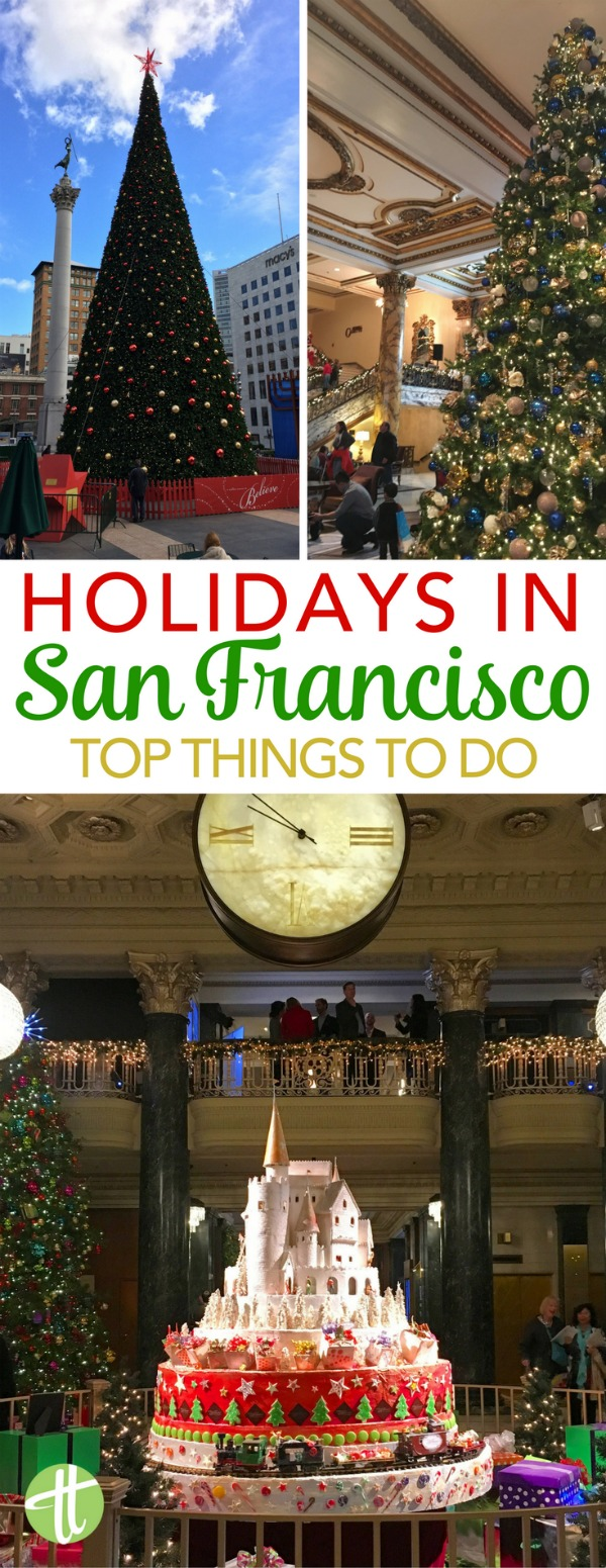 Visiting San Francisco during the winter holidays? The best things to do to celebrate the Christmas season with the whole family with and without kids. Holiday lights, trees, special events, shows, holiday teas, and more.