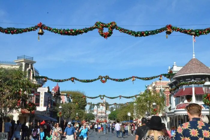 Complete Guide to Holidays at Disneyland - Main Street USA decorations