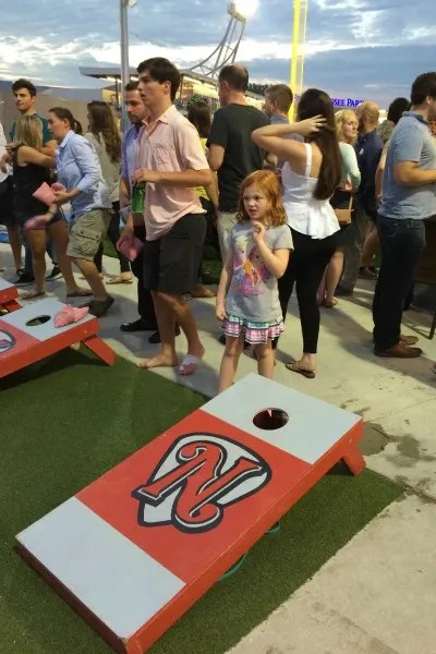 Nashville with Young Kids - Nashville Sounds Cornhole