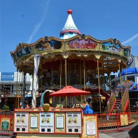Fishermans Wharf San Francisco with Kids - Pier 39 Carousel