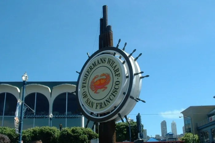 Fishermans Wharf San Francisco with Kids - Sign
