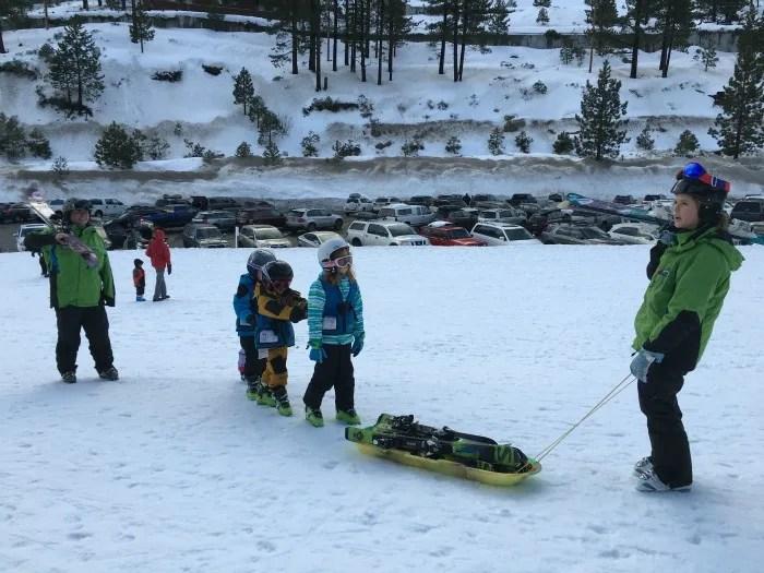 Skiing Diamond Peak with Kids - Child Ski Center