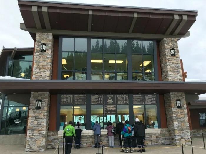 Skiing Diamond Peak with Kids - Lift Ticket Window