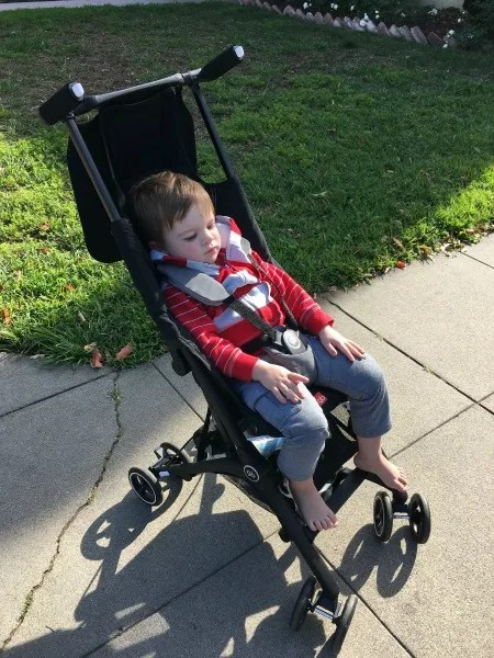gb Pockit Review - Toddler in Stroller