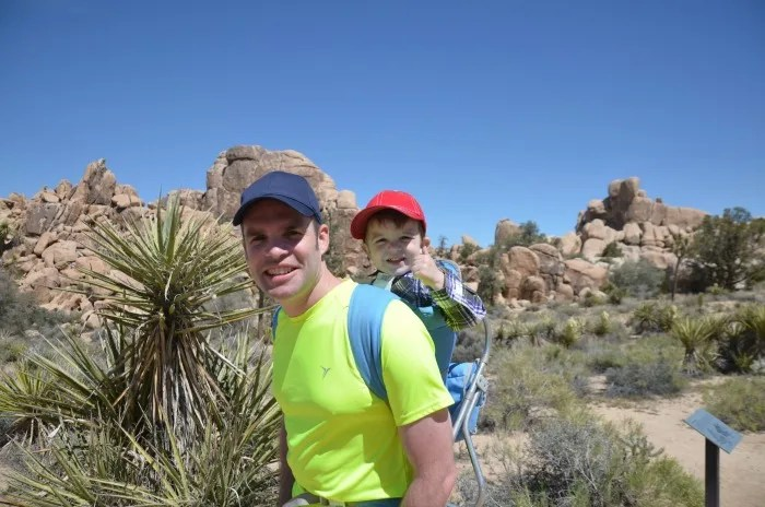 Joshua Tree National Park with Kids - Baby Backpack