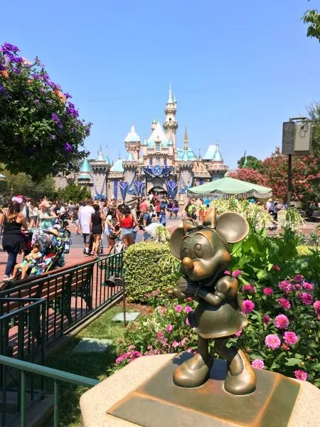 Disney Social Media Moms Celebration On the Road Disneyland - Disneyland Castle 60th Decorations