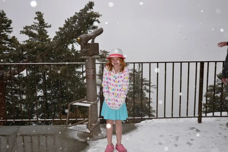 Palm Springs with Kids - Aerial Tram Snow