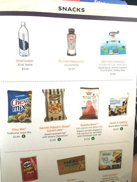United with Kids - Snack Menu