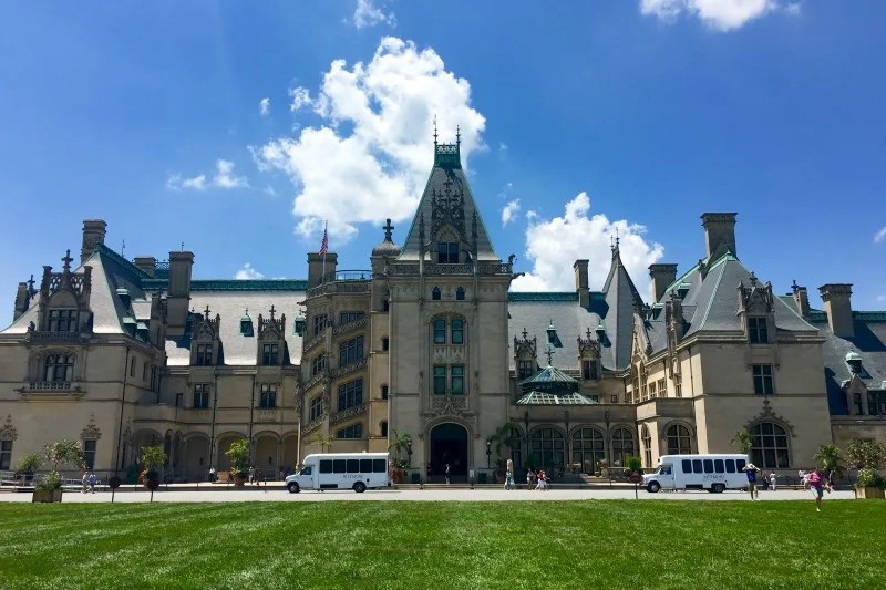 Biltmore Estate with Kids - House Front View