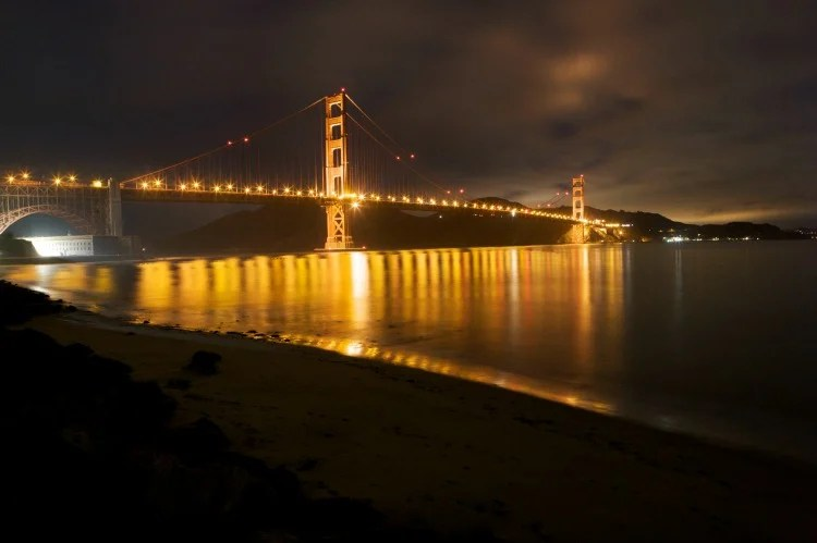 Free Things to Do in San Francisco with Kids - Golden Gate Bridge at Night