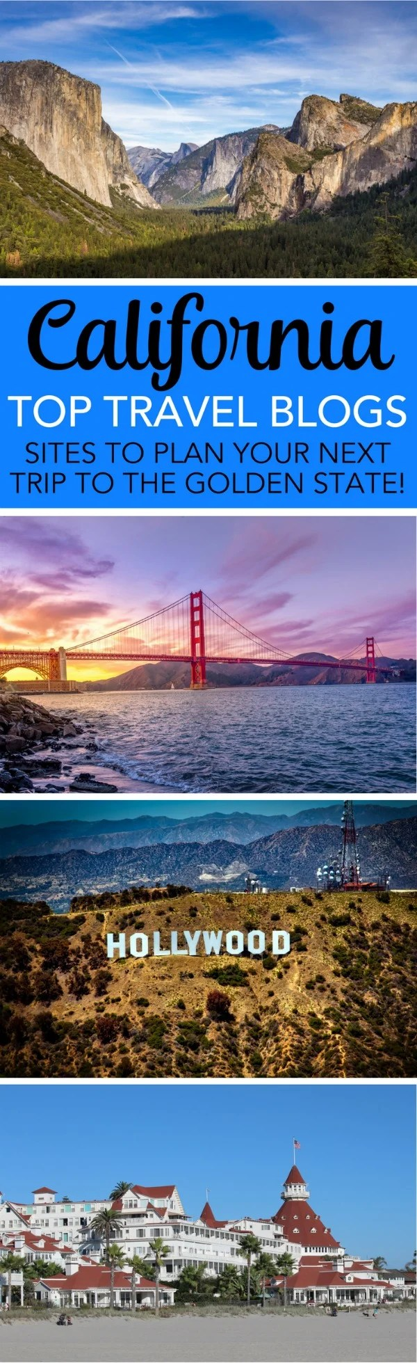 Top California Travel Blogs: Planning a trip to the Golden State? These top California-based writer sites cover both Northern and Southern California travel destinations - national parks, theme parks, road trips, city guides, beaches, and more.