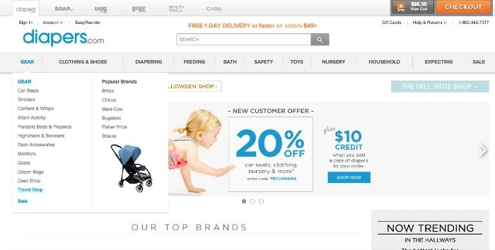 Trip with Toddler - Diapers.com Discount