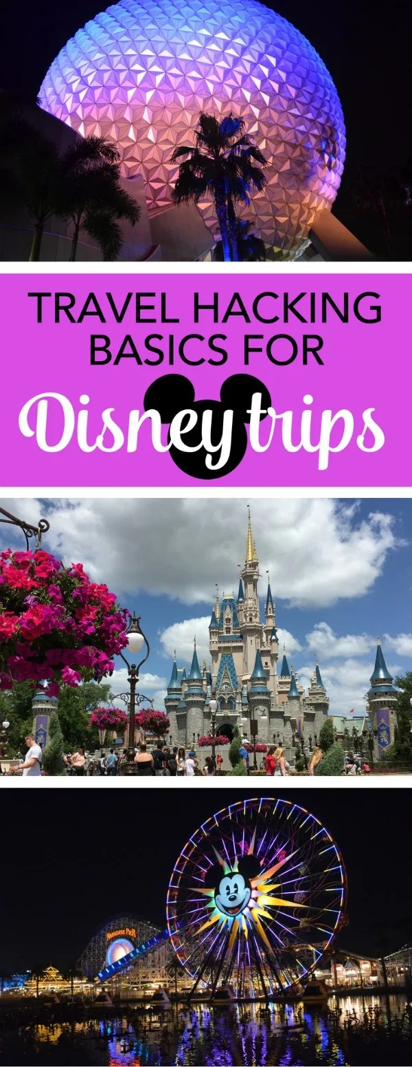 Travel Hacking Disney: Learn how to use frequent flyer miles and points to save big on your family's next Walt Disney World or Disneyland vacation. Even if you don't have a lot of time, implementing these basics can save your family travel budget on airfare, hotels, and even food and souvenirs.