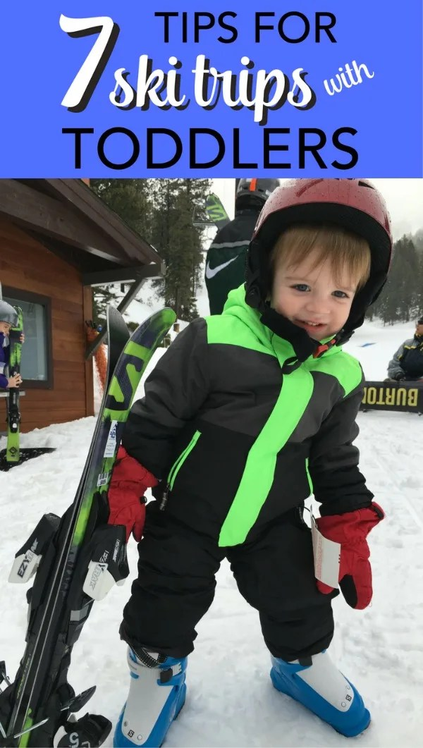 Considering a ski trip with a toddler or preschooler? 7 important survival tips for an awesome winter family vacation on the slopes with little ones in tow.