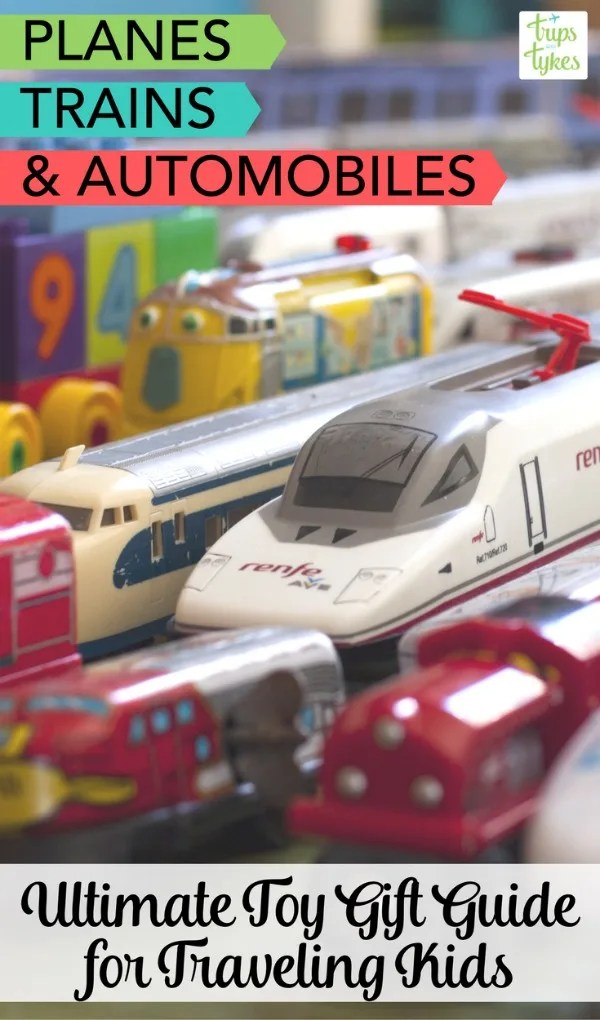 Planes, trains & automobiles toy gift guide | Have a young aviation enthusiast, train lover, or car fan in the family? The best transportation-themed toys for kids for holidays, birthdays, and more.
