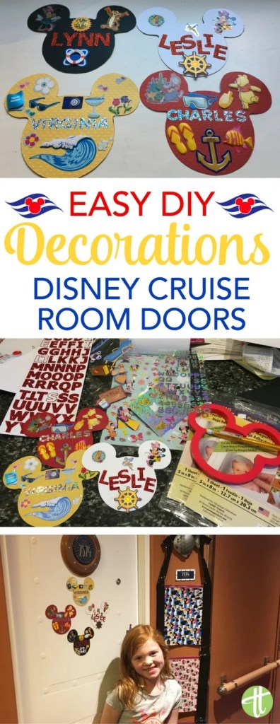 Taking a Disney Cruise? How to make magnetic decorations for your stateroom door. Easy DIY instructions for travelers on a budget & without a lot of specialty crafting supplies.