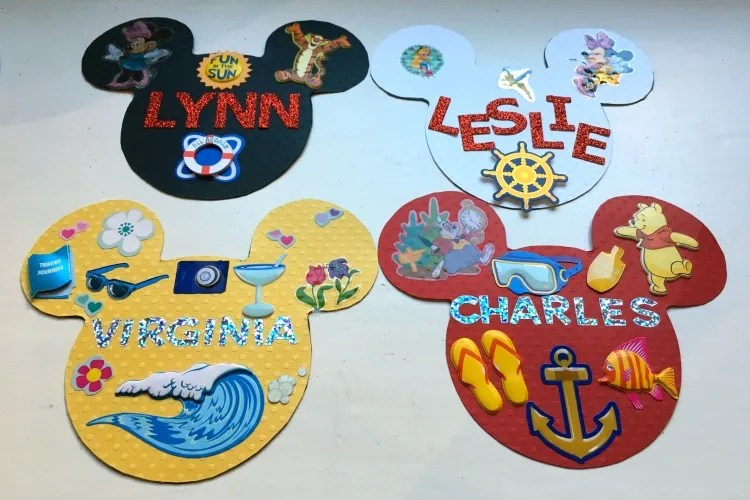 image about Disney Cruise Door Decorations Printable identified as Basic Do-it-yourself Disney Cruise Doorway Magnets - Outings With Tykes