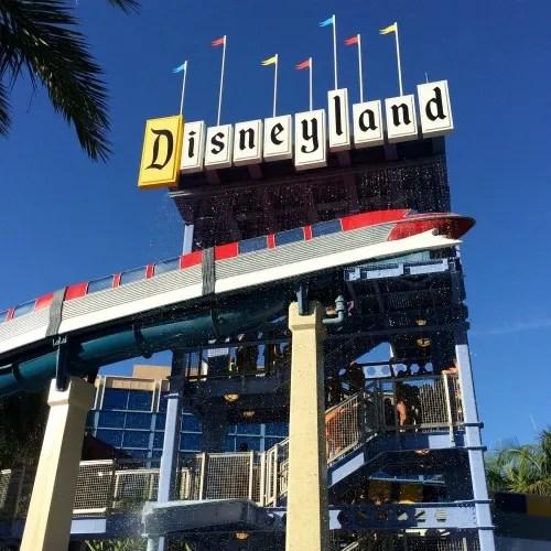 Disneyland with Preschoolers: Disneyland hotel Monorail pool slides