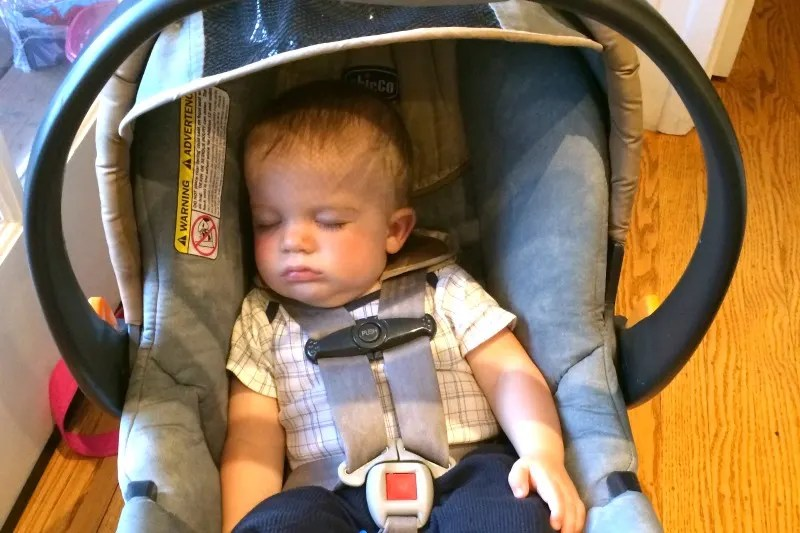 International Travel With Car Seats - Baby in Infant Car Seat