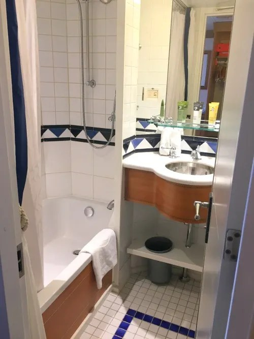 Disney Cruise Line with Toddlers and Preschoolers - Cabin Bathroom with Tub