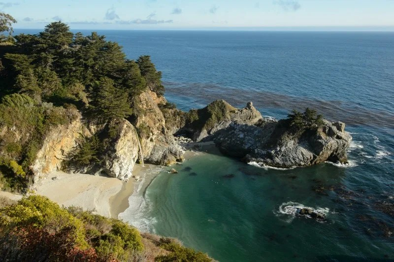 Things to do in Monterey California with Kids - McWay Falls
