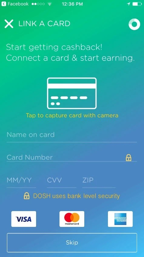 Dosh Review - Credit Card Linking