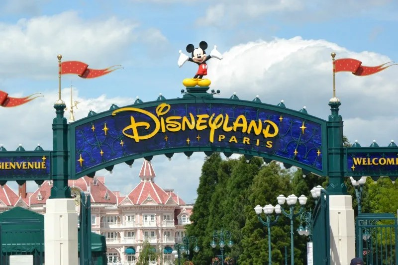 Disney Attractions Around the World - Disneyland Paris Entrance Gate