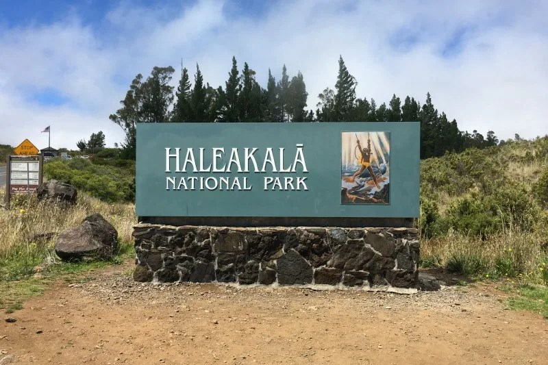 Haleakala National Park Guide and Tips - Entrance Sign