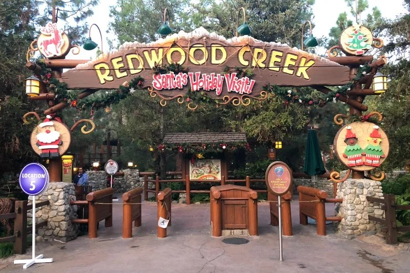 Disneyland Holidays - Santa at Redwood Creek