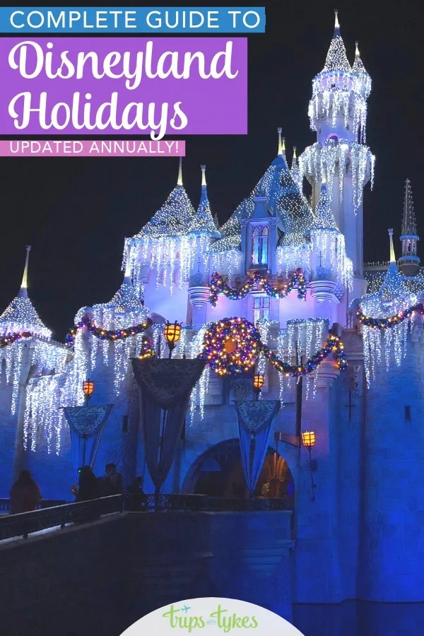 The ultimate guide to Disneyland Holidays. Tips and tricks for managing the Christmas crowds, the best holiday food, and how to save money at Festival of Holidays. Plus, parades, fireworks, Cars Land decor, and Santa meet-and-greets. #DisneylandHolidays #DWKHolidays #Disneylandwithkids #HolidaysBeginHere #Disneyland #Christmas #wintertravel