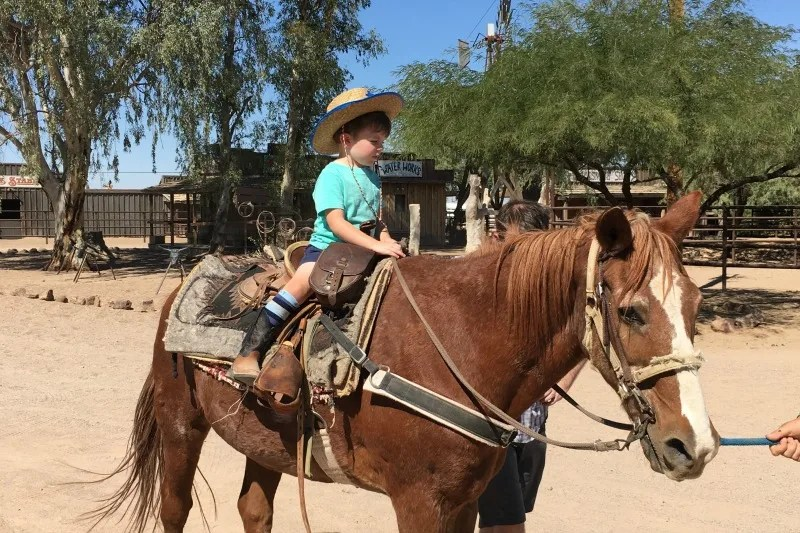 Dude Ranch with Kids - Toddler Pony Ride