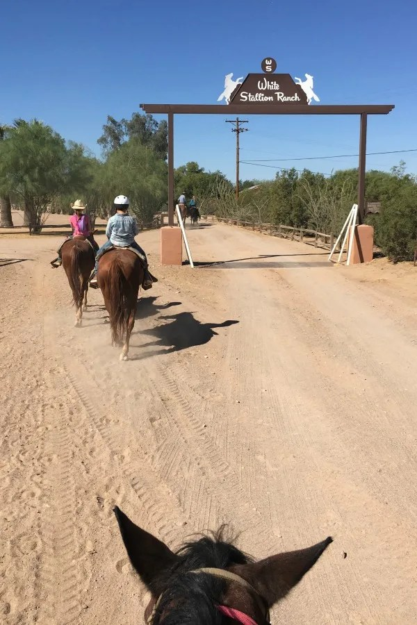 Dude Ranch with Kids - White Stallion Ranch Trail Riding