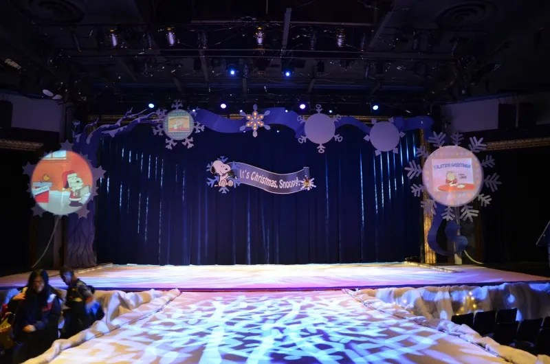 WinterFest at Great America - Its Christmas Snoopy Stage
