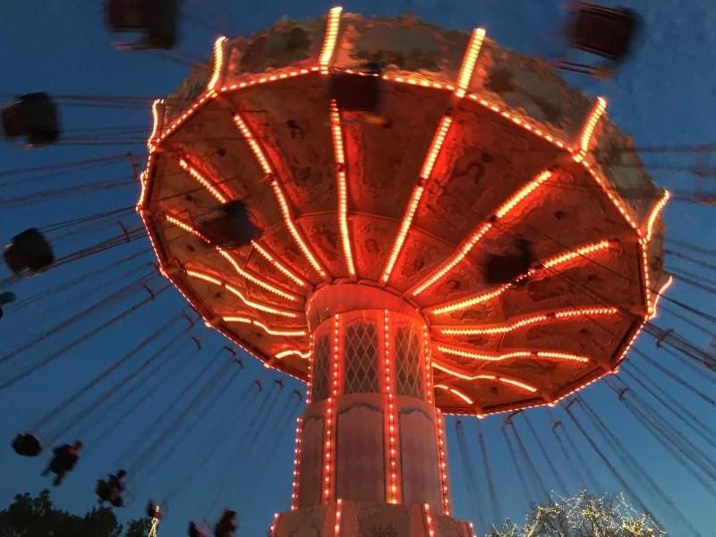 Winterfest at Great America - Swings