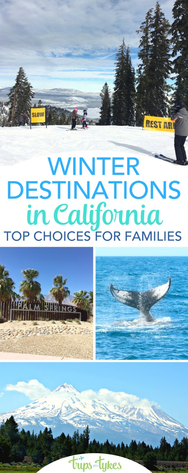 Top travel destinations in California during winter: Whether you are searching for skiing and snow or seeking a tropical warm weather getaway, check out these top family-friendly destinations in the state of California perfect for travelers with kids. #california #visitcalifornia #