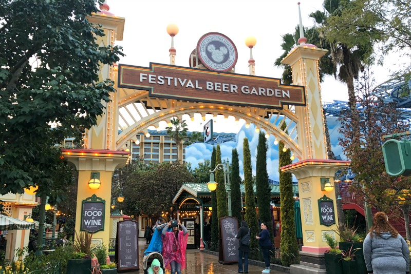 Disneyland Food and Wine Festival Tips - Festival Beer Garden