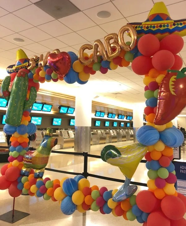 Southwest Inaugural Flight to Cabo - Checkin Area Decor