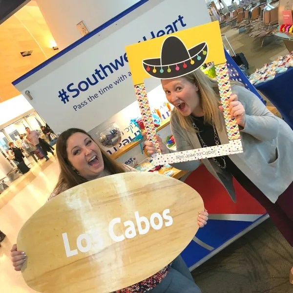 Southwest Inaugural Flight to Cabo - Fun at the Gate