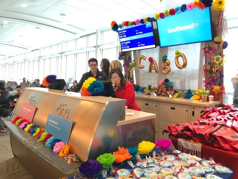 Southwest Inaugural Flight to Cabo - Gate Area Decorations