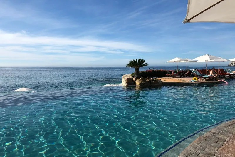 Southwest Inaugural Flight to Cabo - Infinity Pool Sheraton Hacienda del Mar