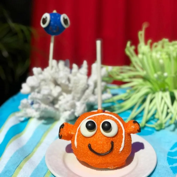 Disneyland Pixar Fest with Toddlers - Nemo Dory Candy and Cake Pops