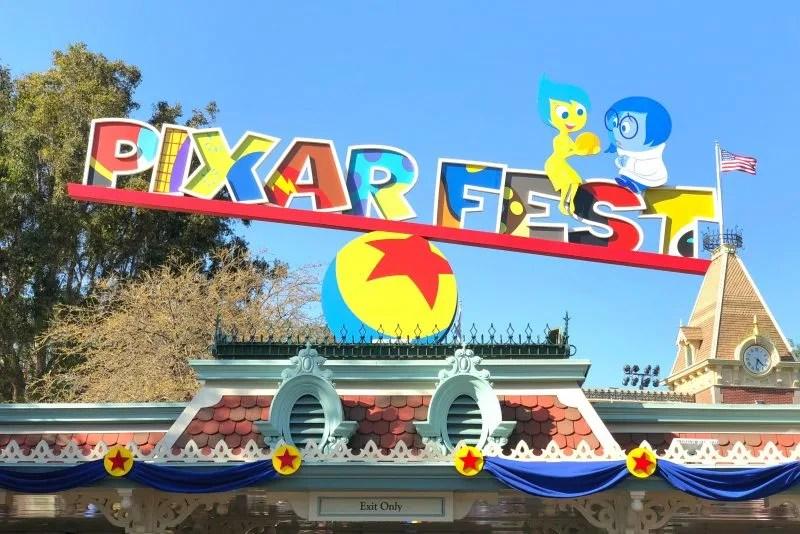 Pixar Fest at Disneyland - Disneyland Entrance Sign