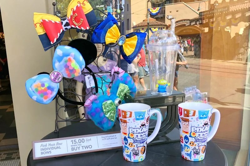 Pixar Fest at Disneyland - Merchandise in DCA at Five and Dime