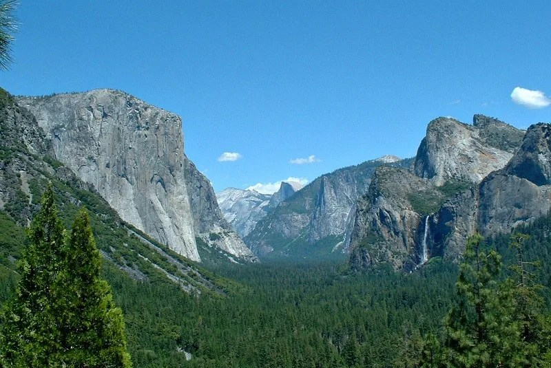 Northern California National Parks - El Capitan and Yosemite Falls at Yosemite National Park