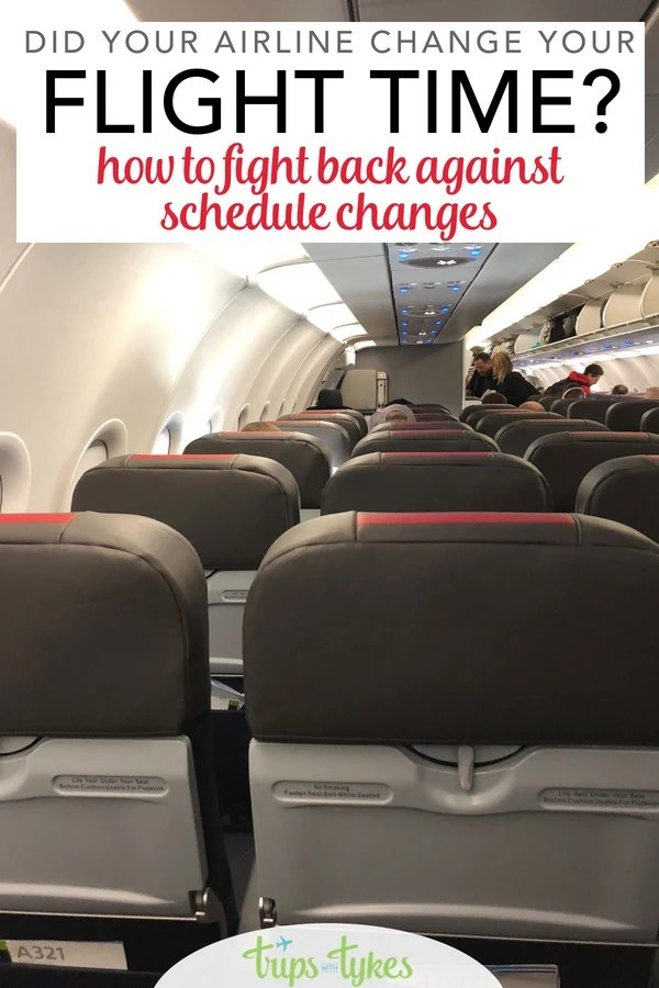 Has a flight you booked had a schedule change that changes your travel plans? Learn how to turn this air travel inconvenience into a powerful tool that may potentially save you time and money! #airtravel #traveltip #airline #airplane